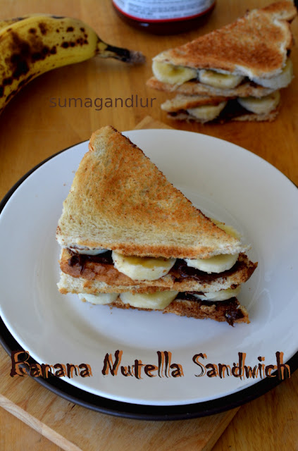 Banana – Nutella Sandwich