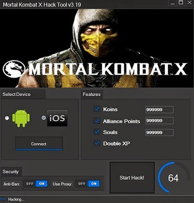 Serials Hacks Games: Mortal Kombat X iOS Android Hack Tool