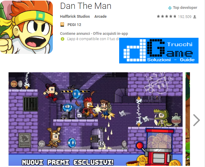 Trucchi Dan The Man Mod Apk Android 1.1.0