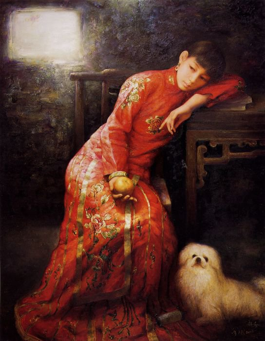 "Chinese Artist ""Zhao Chun"" 1970"