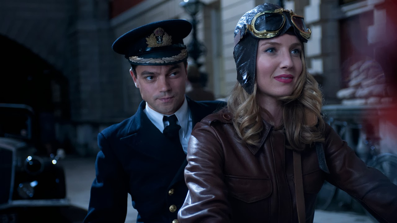 Muriel Wright (Annabelle Wallis) takes Ian Fleming (Dominic Cooper) for a ride