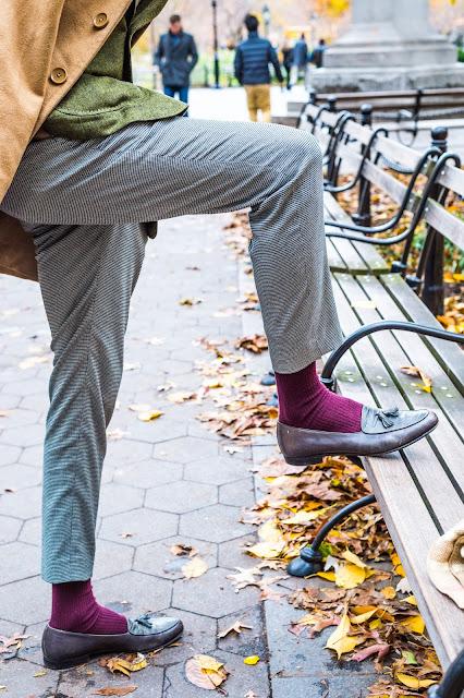 Southern Proper Gentleman's Jacket  in Green Herringbone Menswear Preppy Salvatore Ferragamo shoes