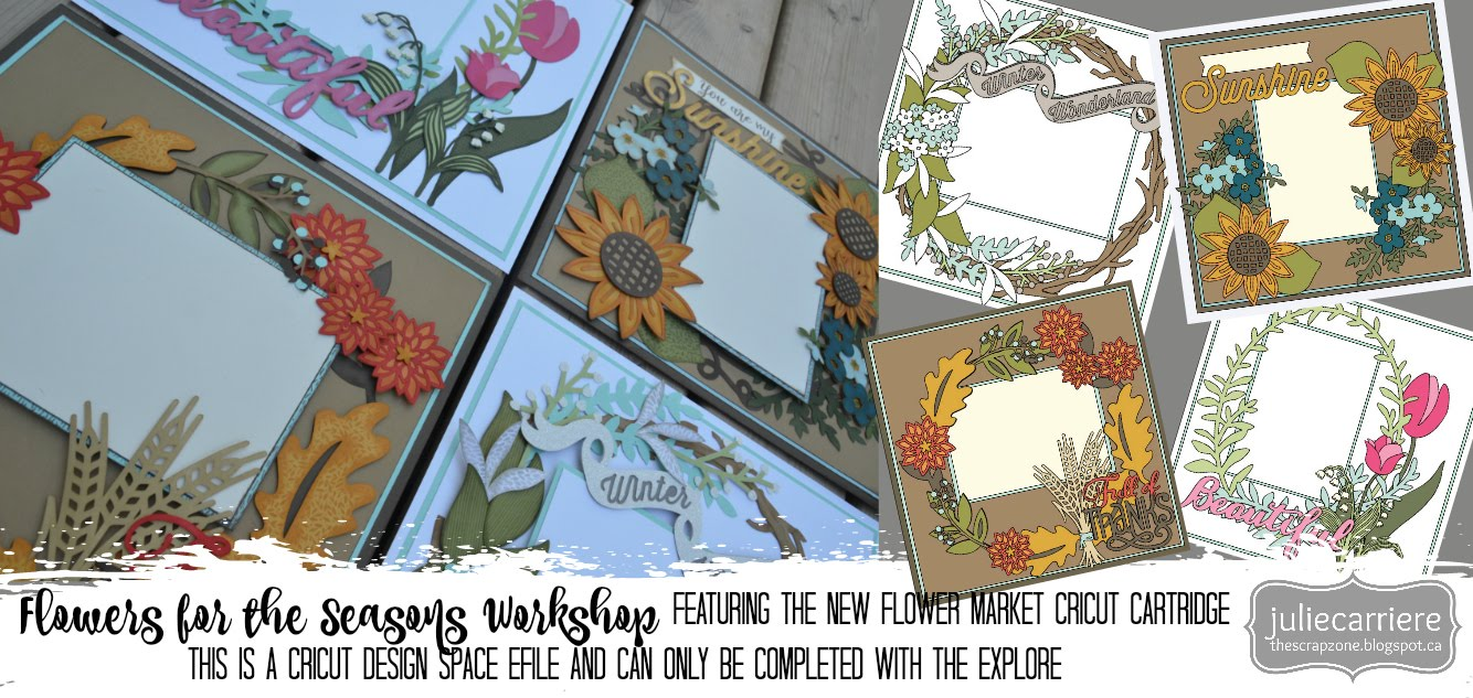 Flowers of all Seasons Scrapbooking assembly guide for EXPLORE only