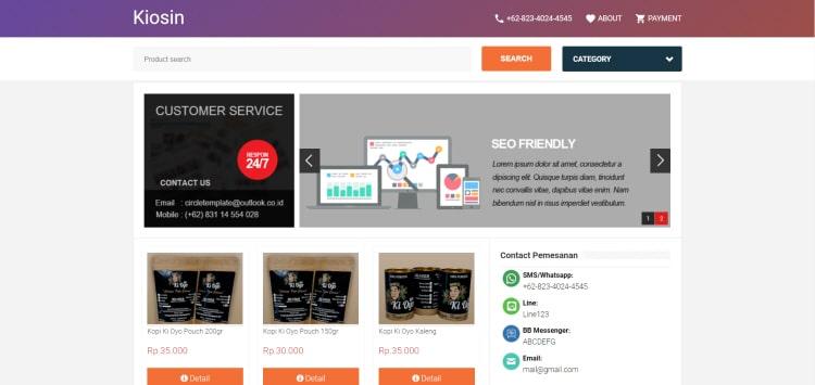 Simplify Store шаблон для сайта интернет магазина