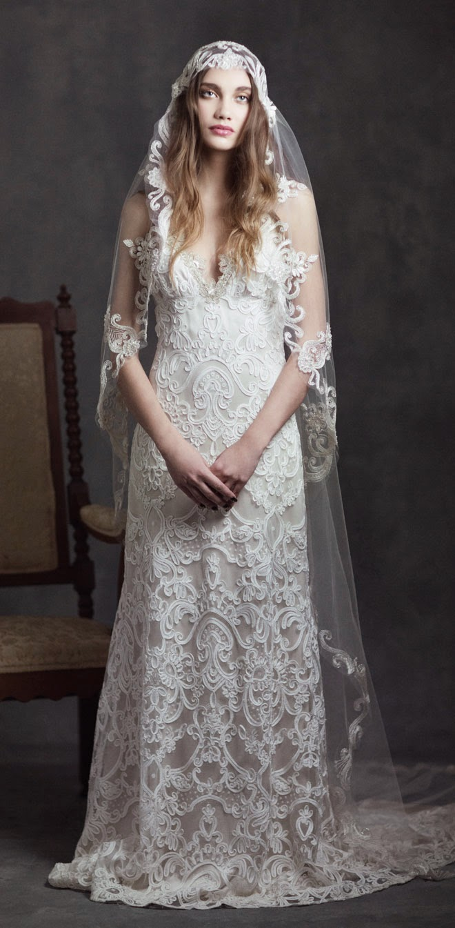 Gothic White Wedding Dress
