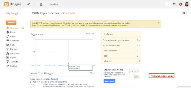 NOUN Portal Blog Overview