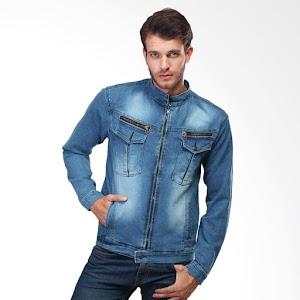 Inficlo 203 Jeans Denim Jaket Pria - Biru