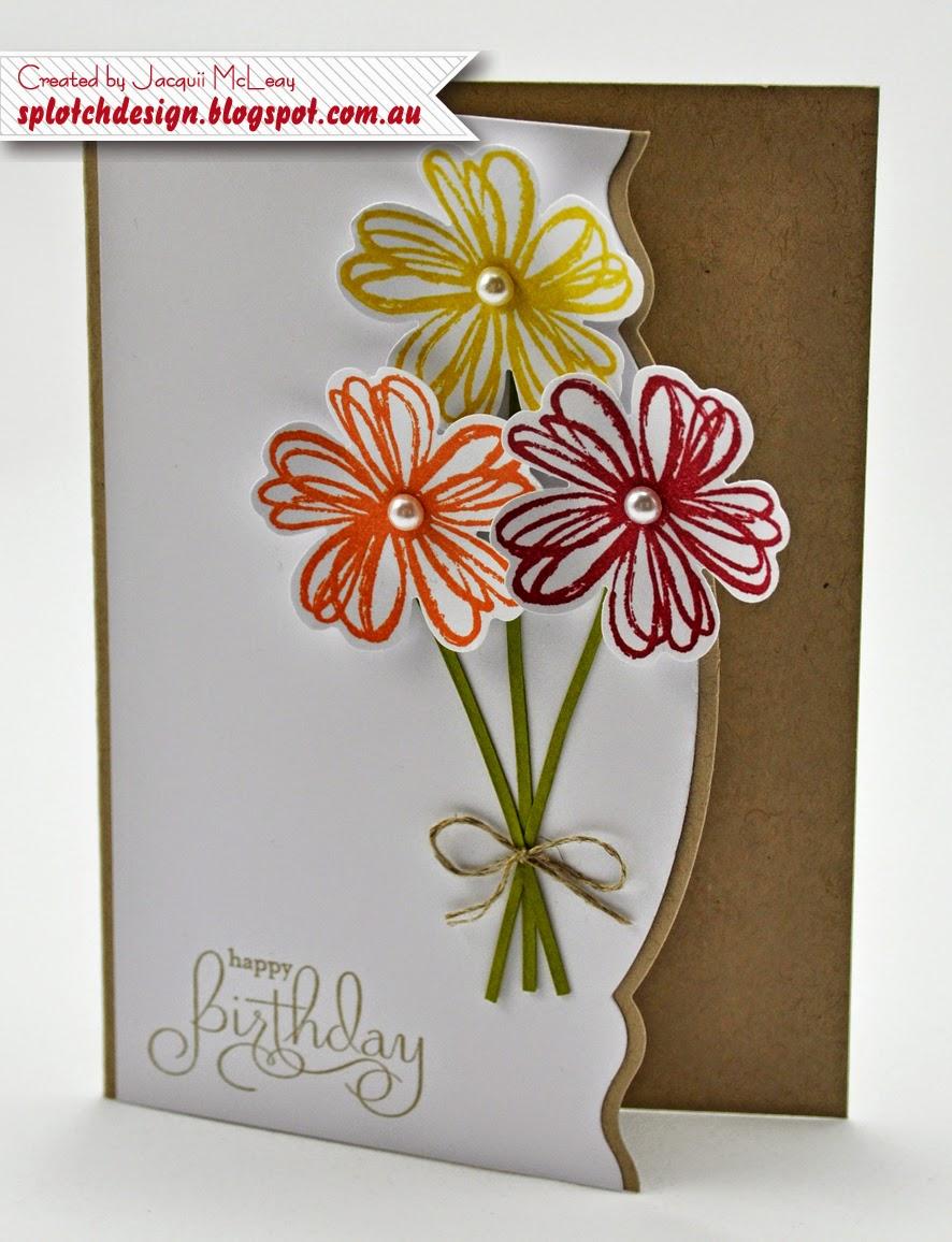 Открытки, самодельная открытка цветок