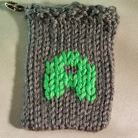 Knitted A, monogram A, gift card holder