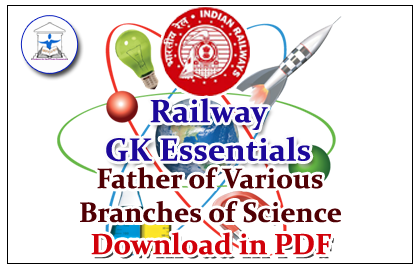 RRB GK Essentials- Father of Various Branches of Science