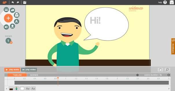 موقع Wideoo لإنشاء رسوم متحركة أو مقدمات فيديو احترافية بسهولة