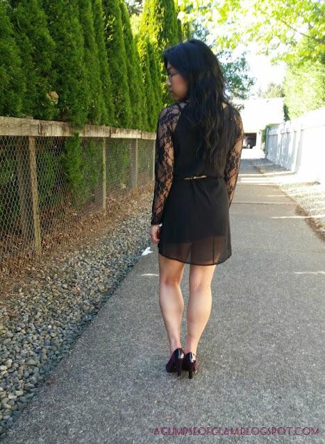 LBD Lace Sleeves OOTD Banggood - Andrea Tiffany aglimpseofglam