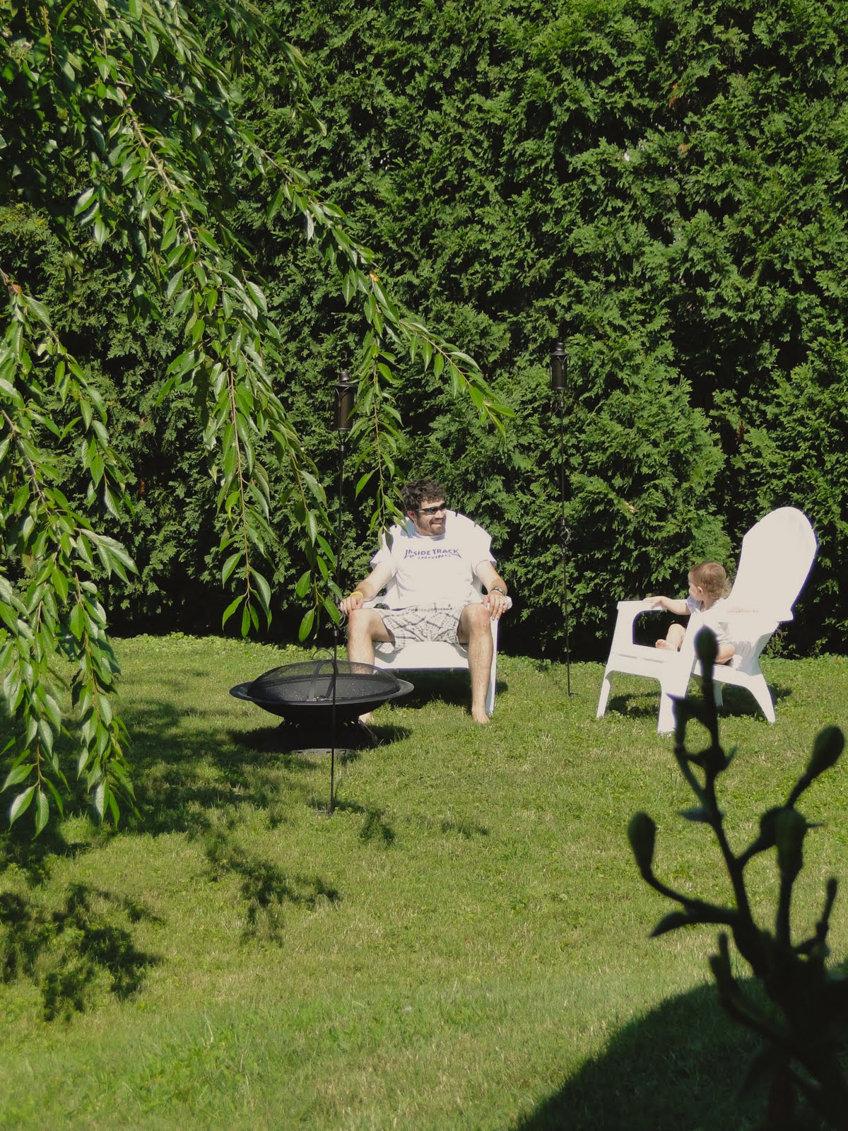 fire pit and adirondack chairs swivel rocking chair a lovely lark h haus backyard patio