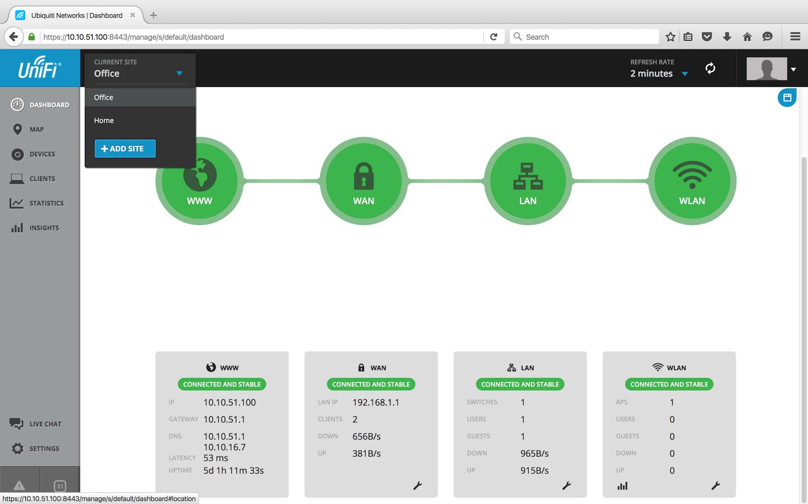Unifi usg site to site vpn setup