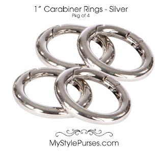 """1"""" Carabiner Rings - Silver"""