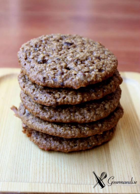 Cookies de mel e aveia
