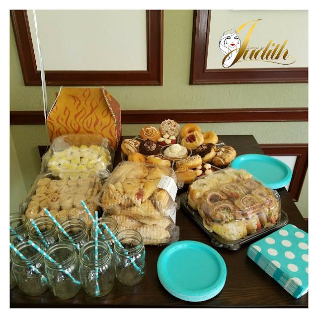 mojo donuts, publix catering, brunch food, shower food, eventsojudith