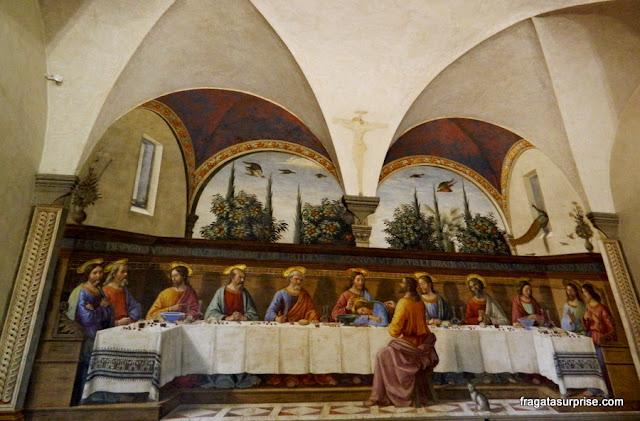 A Santa Ceia, afresco de Ghirlandaio, Museu de San Marco, Florença
