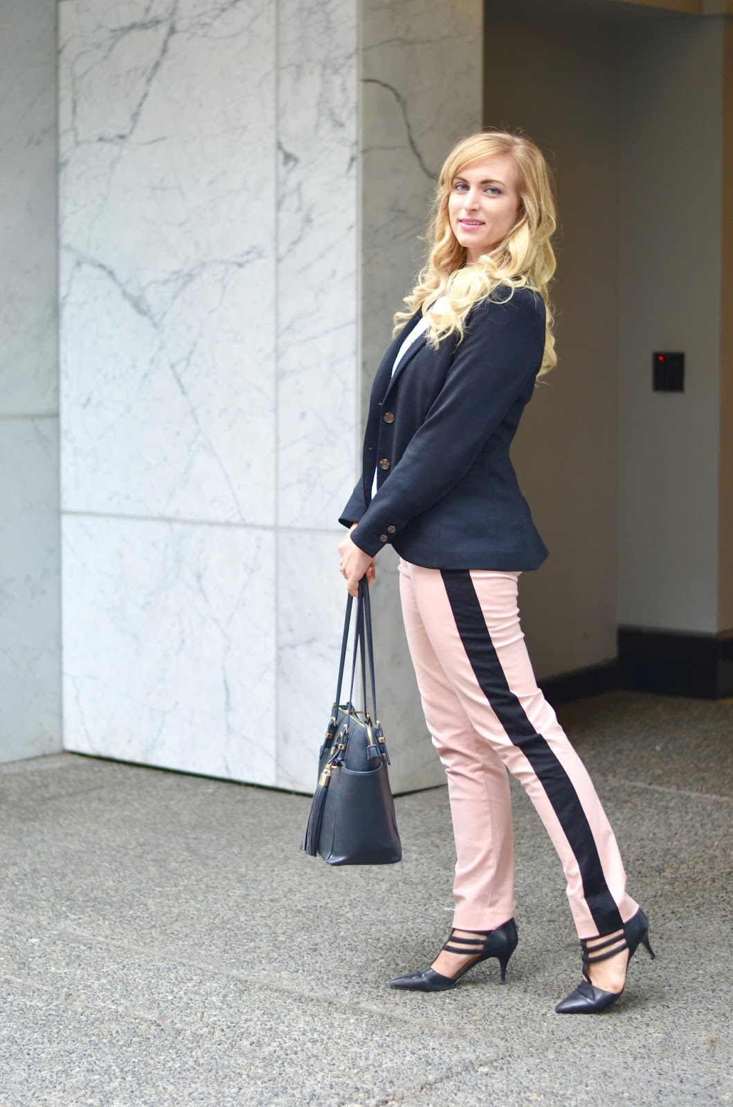 how to style pink pants for work