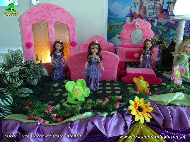Decoração tema de festa Princesa Sofia