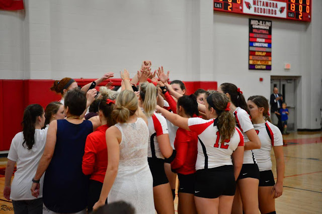 Metamora Volleyball prevails in 3 sets over Dunlap, Metamora Herald