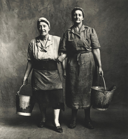 Charwomen, London, 1950,  by  Irving Penn
