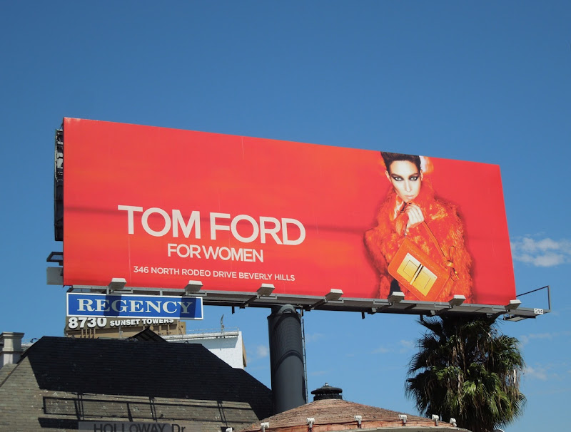 Tom Ford Women handbag billboard