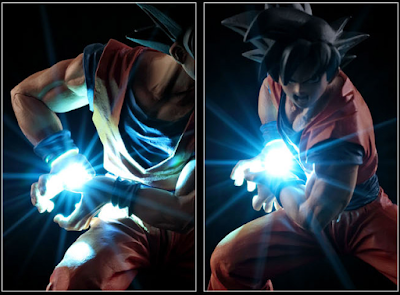 Action Figure LED Son Goku Kamehameha 04