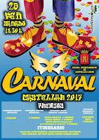 Carnaval de Castellar 2017 - Cartel con motivo principal copiado del carnaval de Constantina 2014