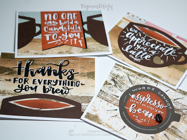 Fall Themed Coffee Thank You Cards