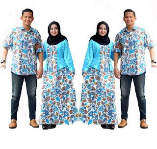 model baju batik couple anak muda berhijab