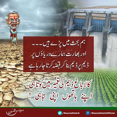 Moonis Elahi Says India building dams on Pakistan rivers due to our own debate on KalabaghDam.