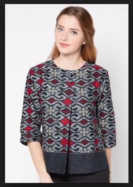 Model baju batik wanita atasan modis