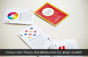 Color wheel cards on a table