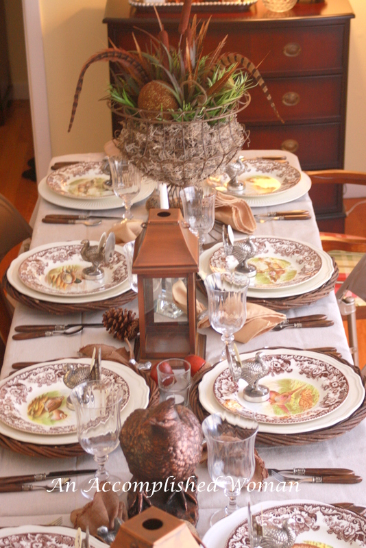 An Accomplished Woman The Thanksgiving Table