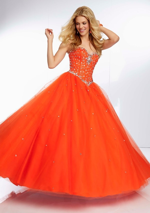 Wishful List Prom Orange | bridal dresses
