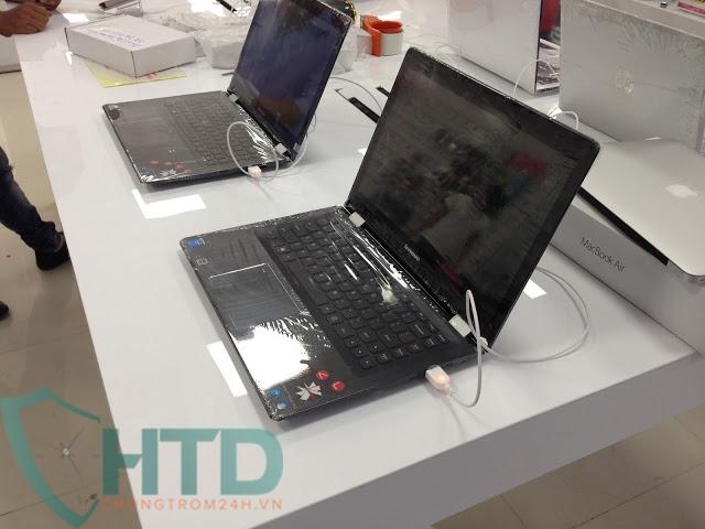 Chống trộm laptop tại siêu thị Trần Anh