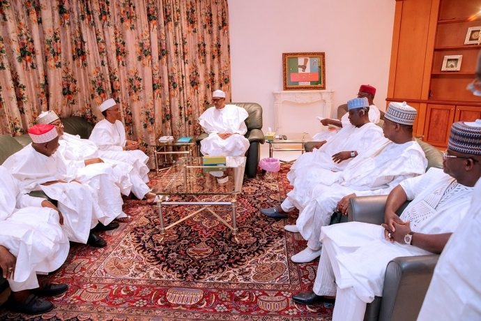 6-Governors-visit-Buhari-at-the-State-House