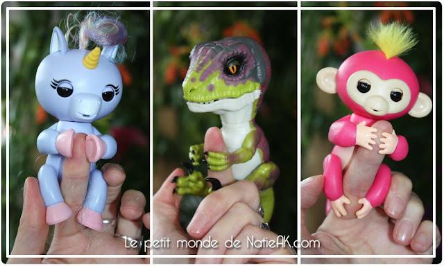 Fingerling dinosaure, licorne et singe