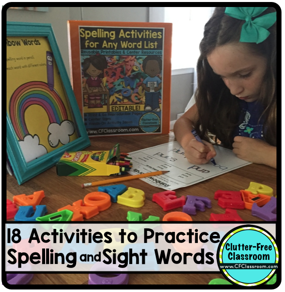 spelling activities for any word list editable makeover monday product updates clutter free. Black Bedroom Furniture Sets. Home Design Ideas