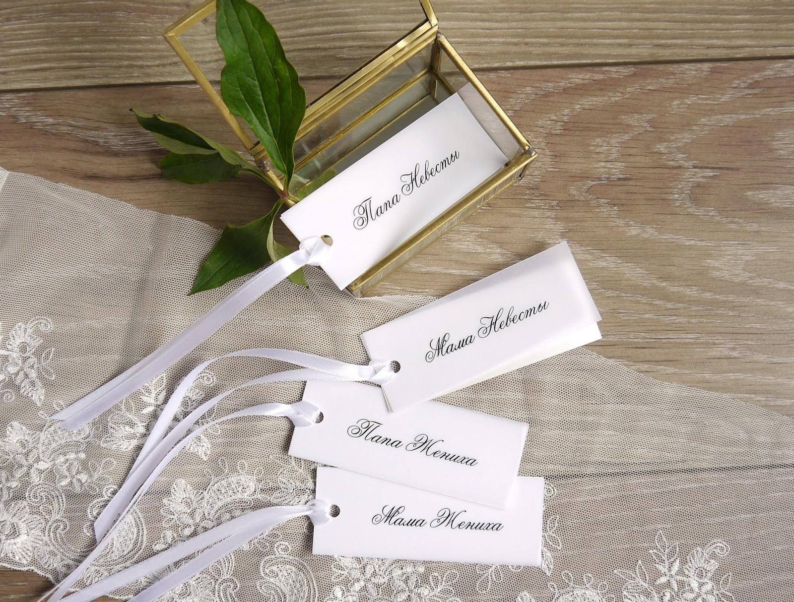 Открытки на стол с именами гостей