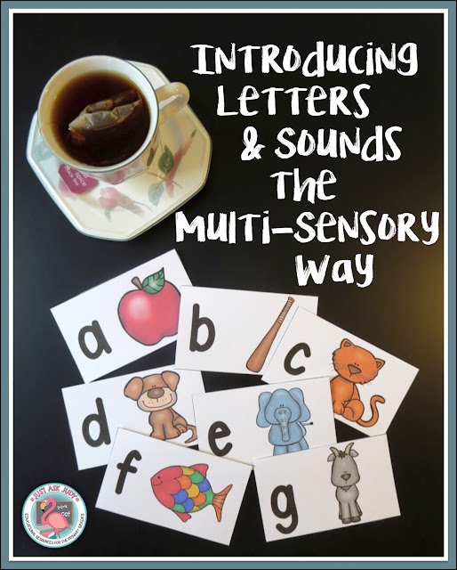 This post provides guidance for introducing letters and sounds using multi-sensory techniques. Free letter/ sound picture cards are featured.