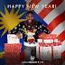 Bendera Malaysia latar belakang ucapan tahun baru Arsenal.