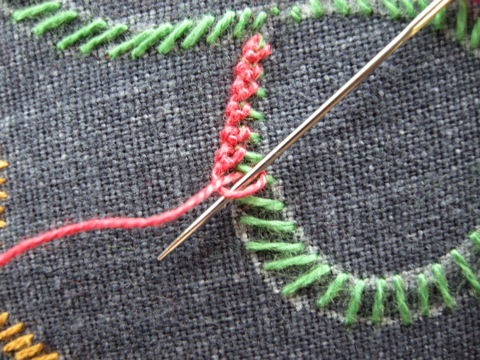 needlepoint stitches stitch diagrams pioneer deh 1050e wiring diagram queenie 39s needlework tast 136 knotted buttonhole band