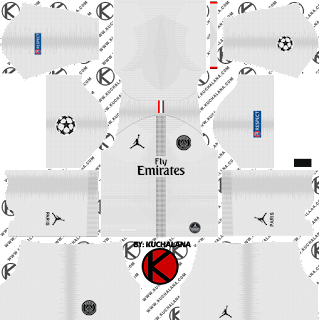Jordan X Paris Saint-Germain (PSG) 2018/19 Kit - Dream League Soccer Kits