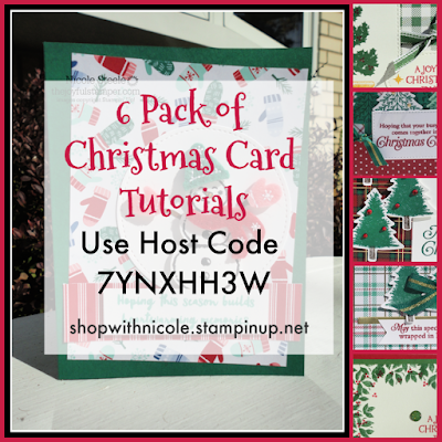 6 Pack of Christmas Card Tutorials  - use host code 7YNXHH3W - shop with Nicole Steele The Joyful Stamper
