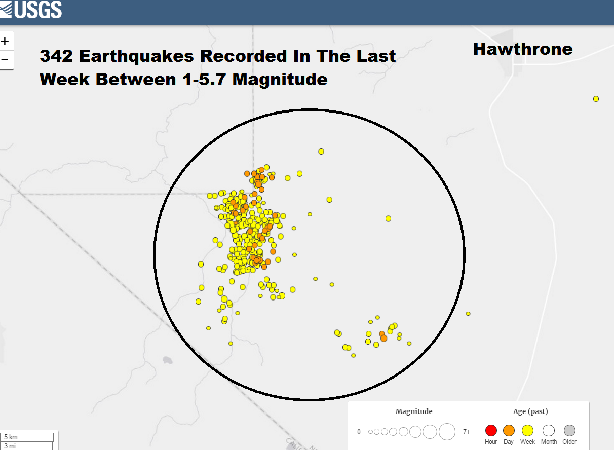 Drilling Maps What Is Causing Earthquakes In Hawthorne