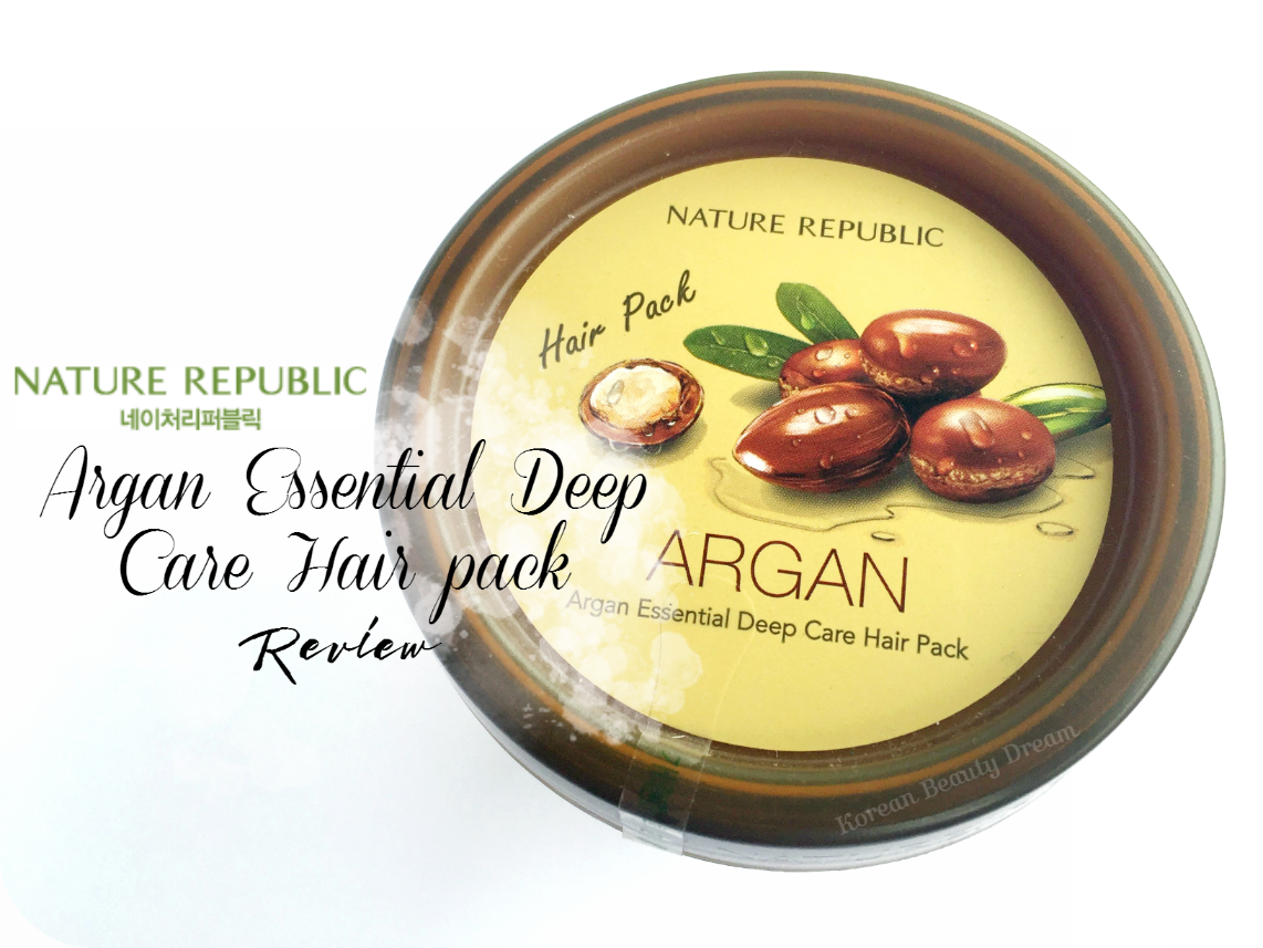 Nature Republic Argan Essential Deep Care Hair Pack Instructions