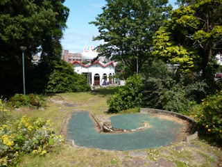 Derelict Crazy Golf on Exeter Road in Bournemouth, Dorset