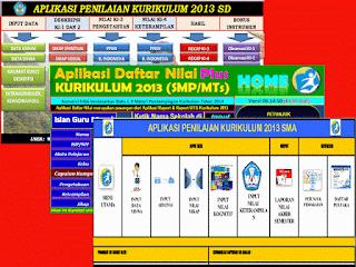 Aplikasi Penilaian Kurikulum 2013 SD, SMP, SMA Lengkap